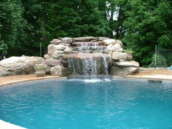 waterfall pools in morristown nj grandview landscape waterfall pool ...